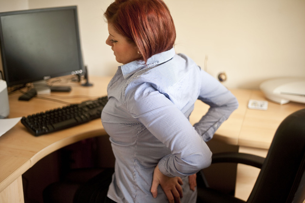 Work related back-pain can be treated on-site
